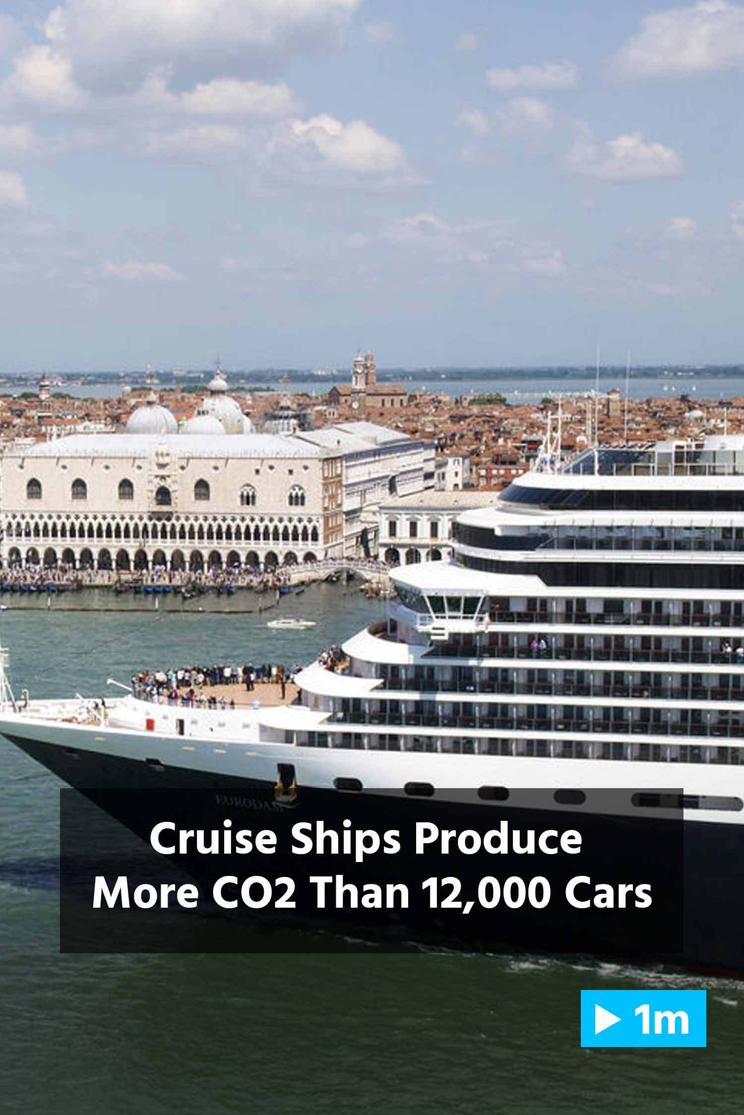 Reuters Report: Cruise Ships Produce More CO2 Than 12,000 Cars