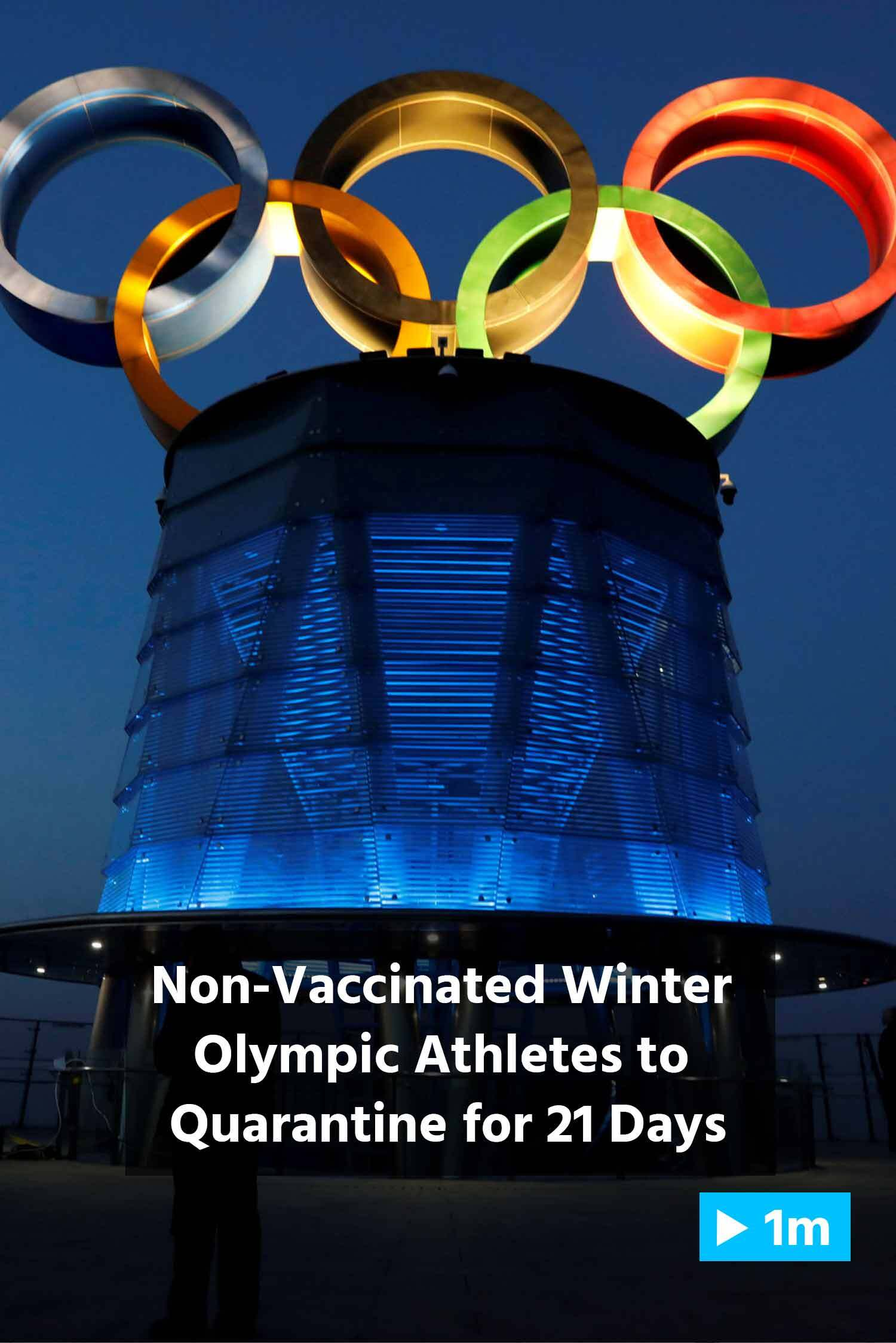 Reuters Report: Non-Vaccinated Winter Olympic Athletes To Quarantine For 21 Days