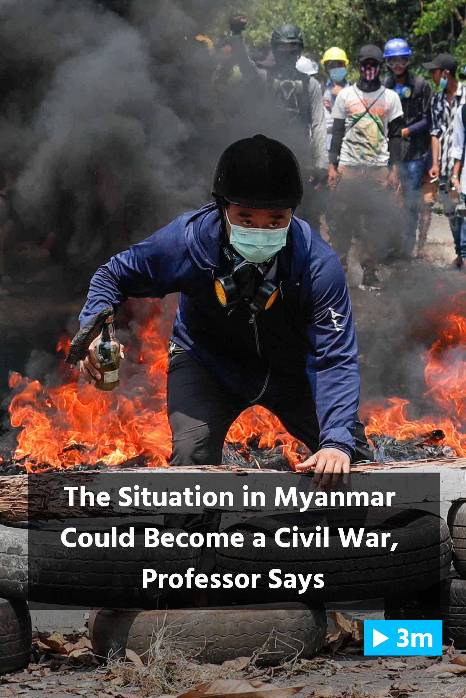 Reuter's Report: The situation in Myanmar could become a civil war, professor says