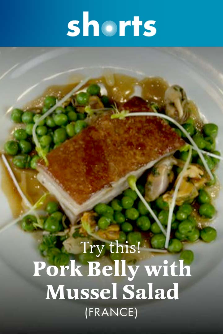 Try This! Pork Belly with Mussel Salad, France